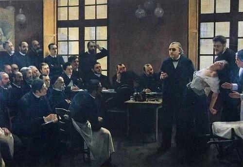 Charcot bir hipnoz seansında, sahnedeyken